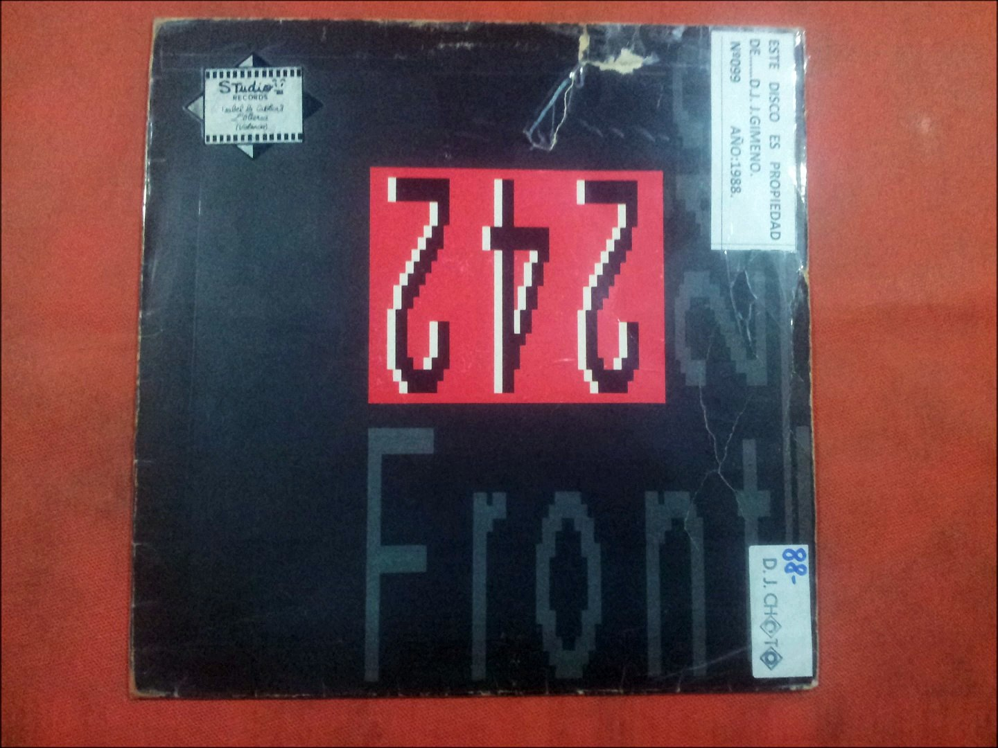 FRONT 242.''FRONT BY FRONT.''.(FELINES.)(12'' LP.)(1988.)