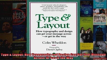 DOWNLOAD PDF Type Layout How Typography and Design Can Get Your Message  AcrossOr Get in the Way FULL FREE
