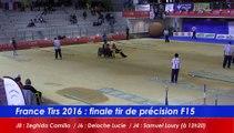 Finale tir de précision F15, France Tirs, Sport Boules, Dardilly 2016
