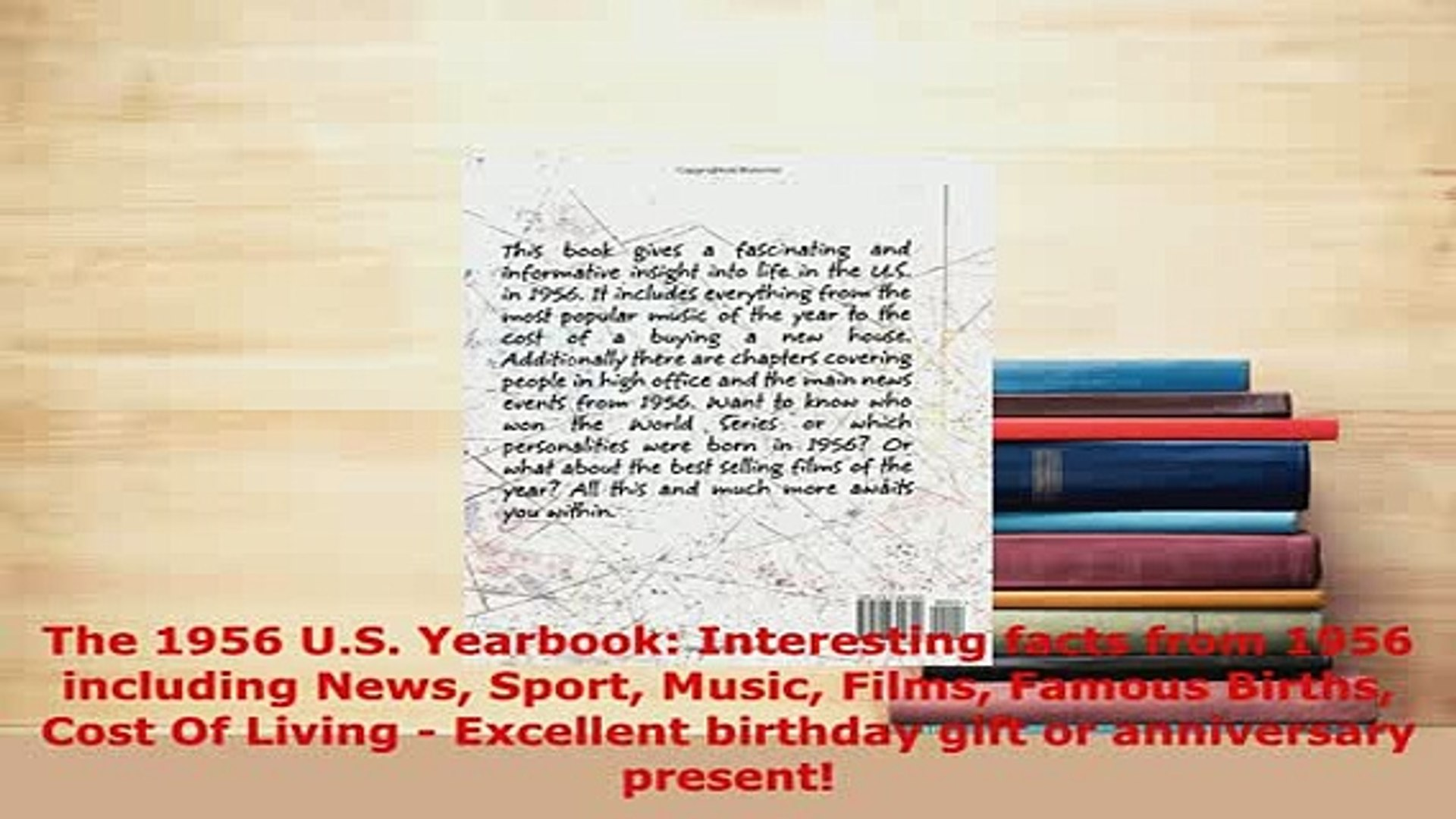 Download  The 1956 US Yearbook Interesting facts from 1956 including News Sport Music Films Ebook