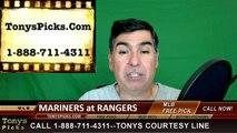 Texas Rangers vs. Seattle Mariners Free Pick Prediction MLB Baseball Odds Preview 4-4-2016