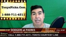 San Diego Padres vs. LA Dodgers Free Pick Prediction MLB Baseball Odds Preview 4-4-2016
