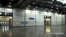 1. Indoor Flight RC Paragliding Spiral 1.2 RC Modell Fair Leipzig