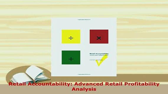 PDF  Retail Accountability Advanced Retail Profitability Analysis Download Online