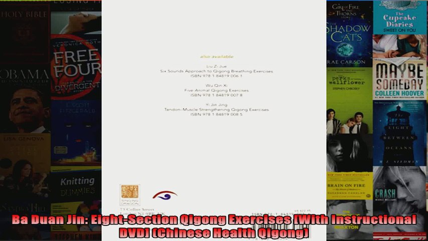 Read Ba Duan Jin EightSection Qigong Exercises With Instructional DVD  Chinese Health Full EBook