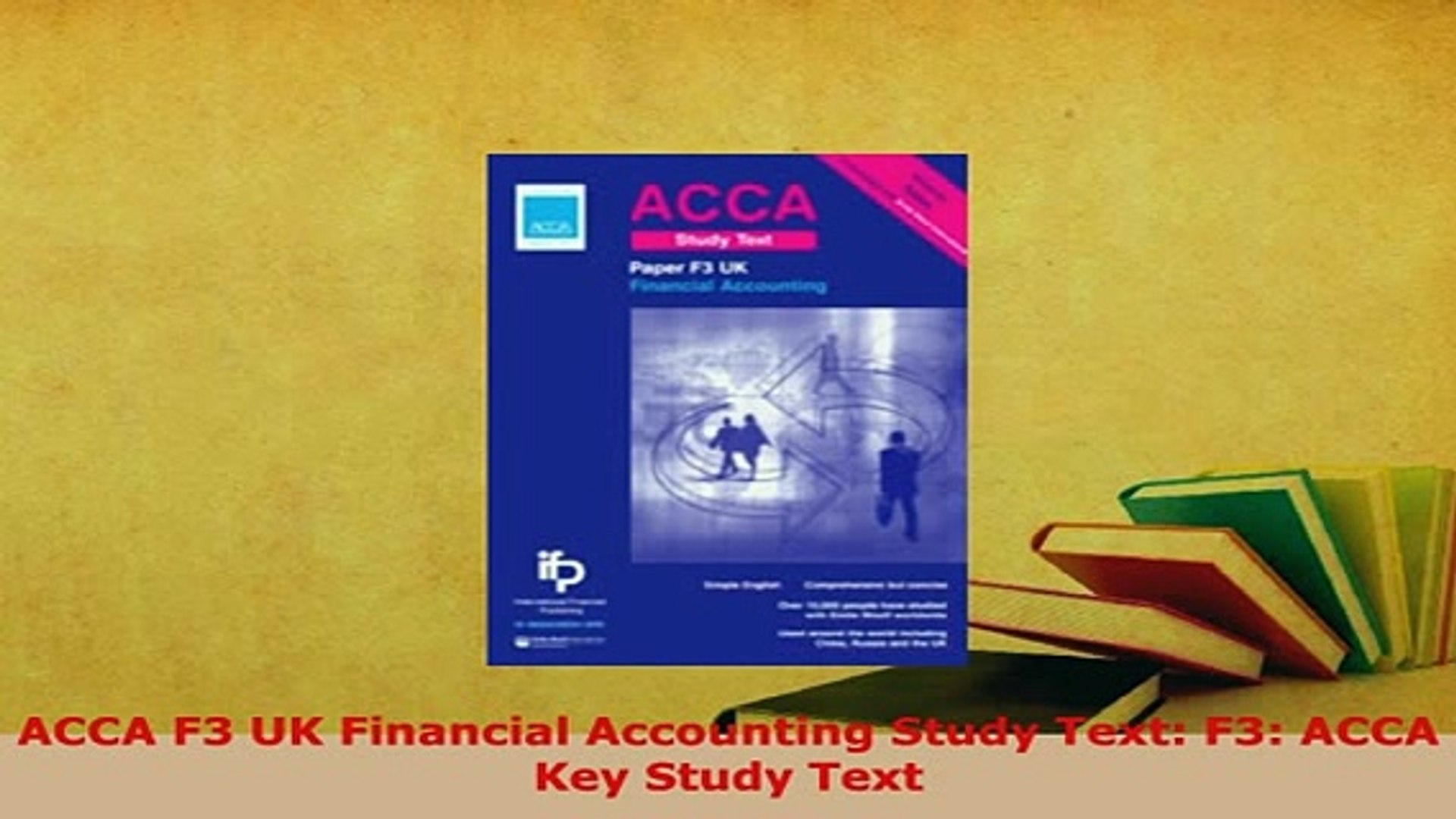 Download ACCA F3 UK Financial Accounting Study Text F3 ACCA Key Study Text  Free Books