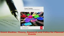 Download  Event Studies Theory Research and Policy for Planned Events Ebook