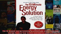Read  The 10Minute Energy Solution A Proven Plan to Increase Your Energy Reduce Your Stress  Full EBook