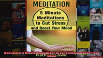 Read  Meditation 5 Minute Meditations to Cut Stress and Boost Your Mood  Full EBook
