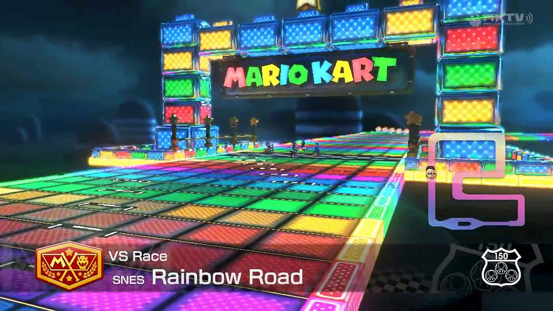 Wii U Mario Kart 8 Snes Rainbow Road Video Dailymotion