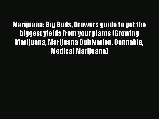 Read Marijuana: Big Buds Growers guide to get the biggest yields from your plants (Growing