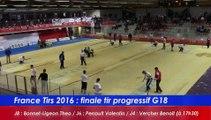 Finale tir progressif G18, France Tirs, Sport Boules, Dardilly 2016