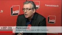 Pïerre Laurent, l'invité de 8h20 de Patrick Cohen