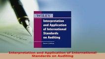 Download  Interpretation and Application of International Standards on Auditing  Read Online