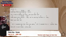 Only You - Yazoo Drums Backing Track with chords and lyrics