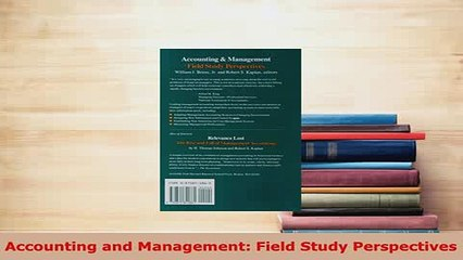 Download  Accounting and Management Field Study Perspectives  EBook