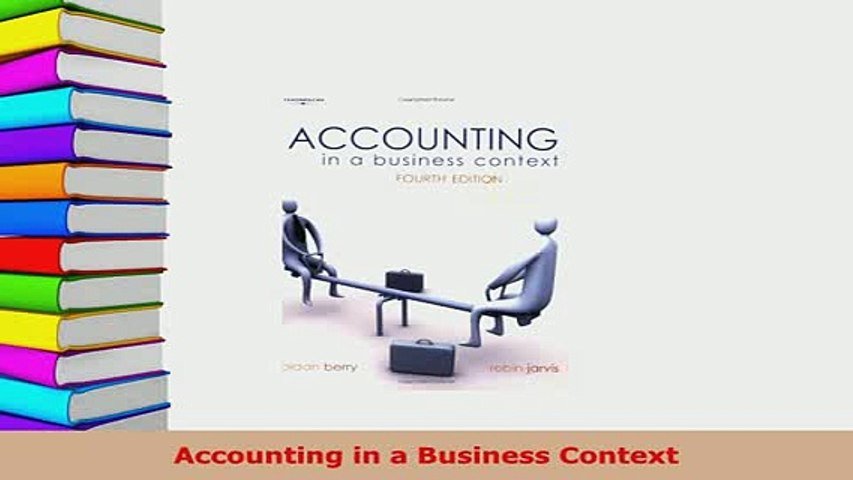 Download  Accounting in a Business Context Free Books