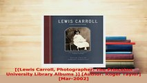 PDF  Lewis Carroll Photographer The Princeton University Library Albums  Author Roger  EBook