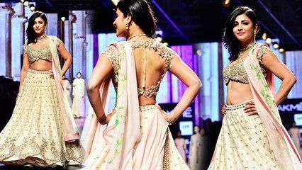 Shruti Hassan Walks The Ramp @ Lakme Fashion Week 2016