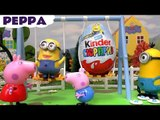 PEPPA SURPRISE EGGS! --- Join Peppa Pig and funny Minions who find and open Kinder Surprise Eggs, featuring Thomas The Train, Disney Frozen, My Little Pony, Mickey Mouse and many more toys