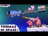 THOMAS IN SPACE --- Join The Clangers as they are met by Thomas with his Jet Engine and Peppa Pig with George in this toy story, Featuring Thomas and Friends and many more family fun toys! Toy Unboxing video shown as creative play