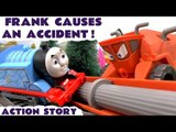 FRANK CAUSES AN ACCIDENT! --- Frank from Disney Cars crashes into Thomas, and the zoo animals escape! Can Peppa Pig and George catch all of the animals? Featuring Thomas and friends and many more family fun toys. Next video features Play Doh and Peppa!