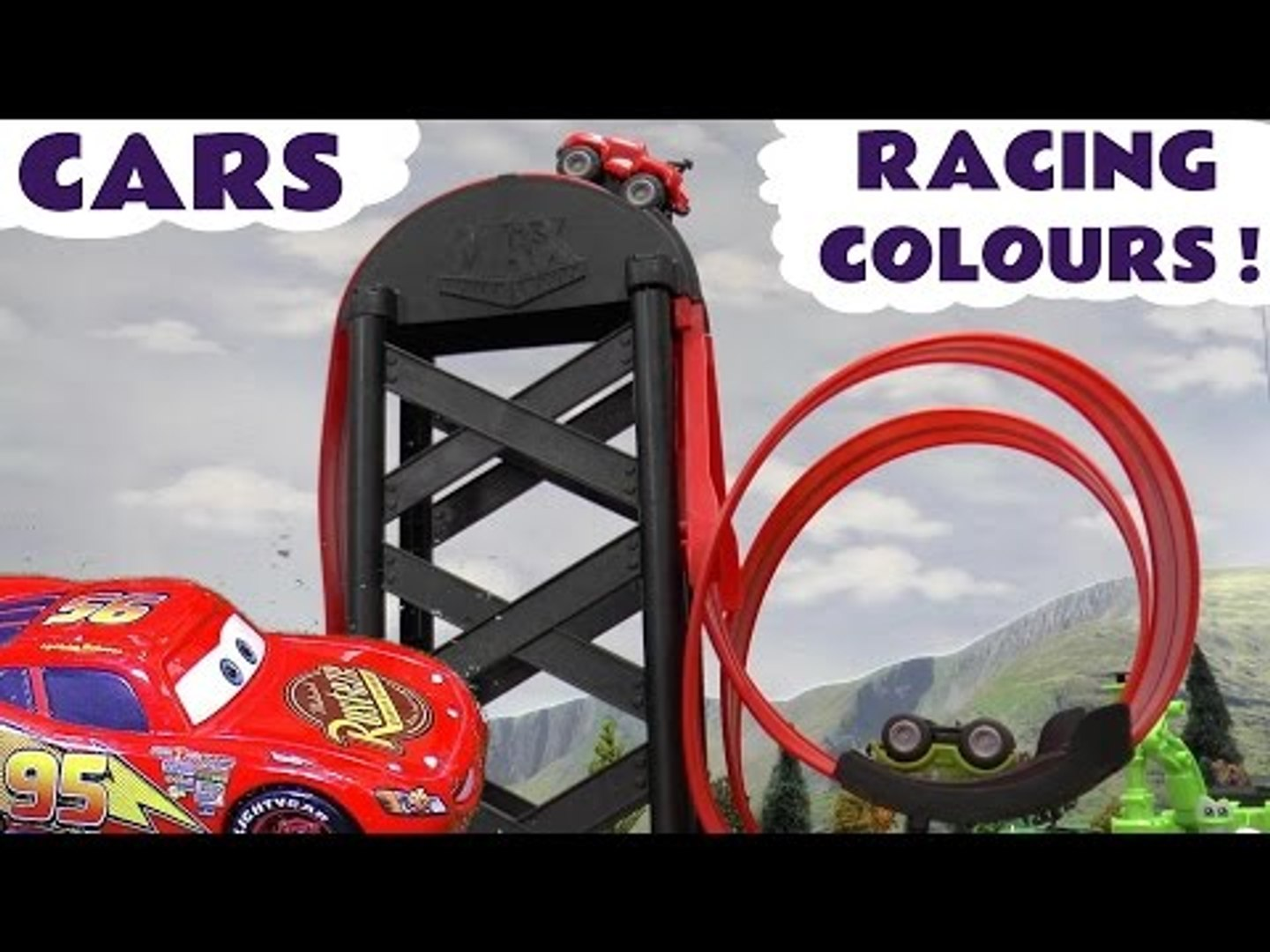 RACING COLOURS! --- Join Disney Cars to learn colors or watch them race each other while characters