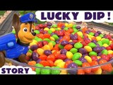 Paw Patrol Candy Skittles Lucky Dip with Thomas and Friends Toys | Minions Surprise Eggs Angry Birds