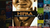 HIPAA The Questions You Didnt Know to Ask