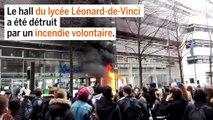 Le hall du lycée Léonard-de-Vincidétruit par un incendie volontaire