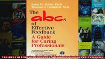 The ABCs of Effective Feedback A Guide for Caring Professionals