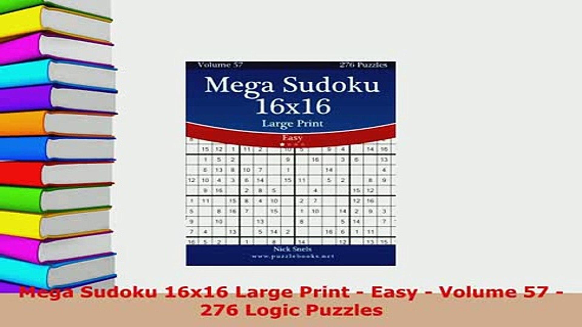 image regarding Sudoku 16x16 Printable called Down load Mega Sudoku 16x16 Major Print Very simple Total 57 276 Logic Puzzles Free of charge Textbooks