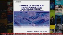 Todays Health Information Management An Integrated Approach