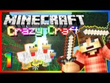 "Minecraft Crazy Craft 2.0! ""Sneaky Chickens!"" Modded Survival Ep.1"
