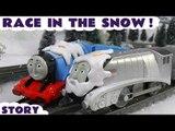 Thomas and Friends Toys R Us Snowy Spencer races Snowy Gordon | Juguetes de Thomas Y Sus Amigos