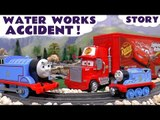Thomas The Train Accident Rescue with Cars McQueen | Water Works Rescue Toy Train Set Unboxing