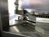 Boring lathe Rotary Tabletting press. Tablet Press. Video 1301 www.Pharma-Manager.com