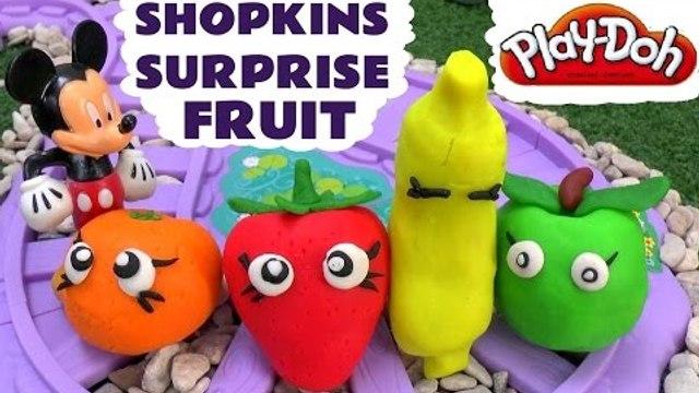 Shopkins Surprise Play Doh Fruit Disney Mickey Mouse MLP Toy Train Clay Plastilina Surprises