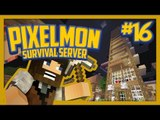 Pixelmon Survival Server (Minecraft Pokemon Mod) Lets Play Ep.16 Tallest Hotel Ever!!