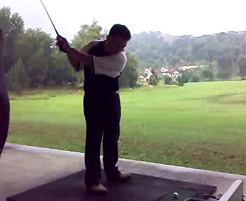 Keong's golf swing