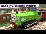 Thomas and Friends Happy Trains Shaving Cream Prank Thomas The Tank Engine Duck Gordon Toy Trains