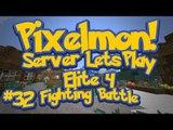 Pixelmon (Minecraft Pokemon Mod) Pokeballers Server Lets Play Ep.32 Elite 4, Fighting Battle!
