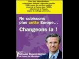 """"""" Un Dupont peut en cacher un autre..."""" - Nicolas Dupont Aignan au Forum démocratique 8-10-2012"""