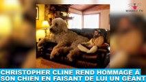 Christopher Cline rend hommage à son chien en faisant de lui un géant ! Les photos dans la minute chien #181