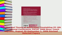 Download  Practice and Theory of Automated Timetabling VI 6th International Conference PATAT 2006 PDF Full Ebook