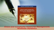 Download  Chaos and Complexity Theory for Management Nonlinear Dynamics PDF Full Ebook