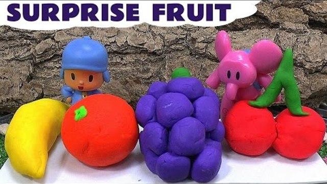 Play Doh Shopkins Fruit Surprise Eggs Pocoyo Disney Thomas And Friends Toys Play-Doh