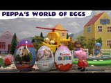 Peppa Pig World Of Surprise Eggs Play Doh Thomas and Friends Kinder Toys Masha P