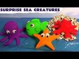 Play Doh Surprise Sea Creatures Cars Spongebob Thomas and Friends Jake Surprise Toys Play-Doh