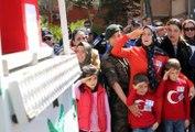 Şehit Babalarını Türk Bayraklı Tişört Giyerek Uğurladılar